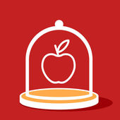 Protection of apple.  — Stockvector