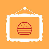 Frame with a burger — Stock Vector