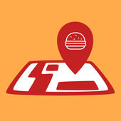 Burger map — Stok Vektör