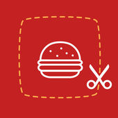 Sticker with burger — Stockvektor