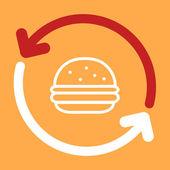 Uppdatera burger. — Stockvektor