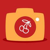 Cherry camera — Stock Vector