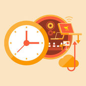 Work time — Stock Vector