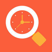 Search time — Stock Vector