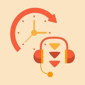 Telephone conversations — Stock Vector