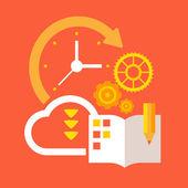 Plan and organize — Stock Vector