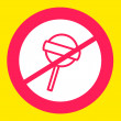 Stock Vector: Prohibiting sign crosses  Lollipop.