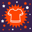 Stock Vector: Star sign with  T-shirt.