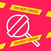 Do not cross the line crossing a  Lollipop.  — Stock Vector