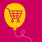 Balloon with a  shopping cart.  — Wektor stockowy