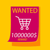 Wanted a  shopping cart. — Stock Vector