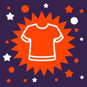 Star sign with a  T-shirt. — Stock Vector