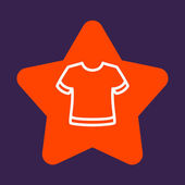 Star with a  T-shirt. — Stock Vector