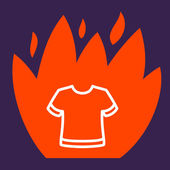 Fire surround  T-shirt.  — Stock Vector