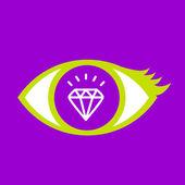 Eye with  Diamond.  — Stockvektor