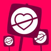 The ban  Heart.  — Stock Vector
