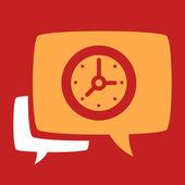 Bubble with  Clock.  — Vettoriale Stock