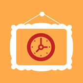 Frame with a  Clock.  — Vector de stock