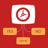Survey with a  Clock.  — Stock Vector