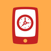 Phone with a  Clock.  — Vector de stock