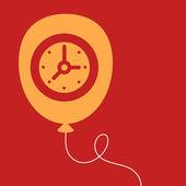 Balloon with a  Clock.  — Vecteur