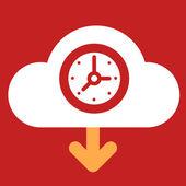 Cloud download  Clock.  — Stock Vector