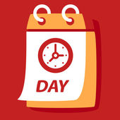 Calendar with a  Clock.  — Stockvektor