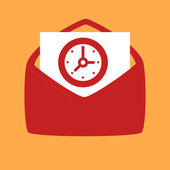 Envelope with a  Clock.  — Stock Vector