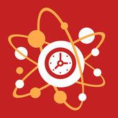 The molecular composition of a  Clock.  — Stock Vector