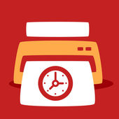 Print out images  Clock. — Stock Vector