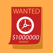 Wanted a  Clock.  — Vetorial Stock