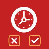 Poll of   Clock — Stock Vector