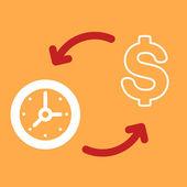 Exchange of money for a  Clock. — Vecteur