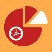 Chart  Clock.  — Stock Vector