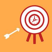 Target with a  Clock.  — Vecteur