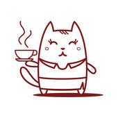 Επιχειρηματίας που κατέχει ένα φλυτζάνι του καφέ — Διανυσματικό Αρχείο