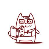 Teacher holding a open book — Stock vektor
