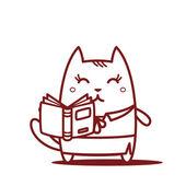 Leraar houden van een open boek — Stockvector