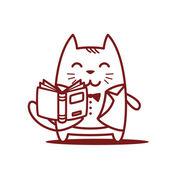 Groom holding a open book — Stok Vektör