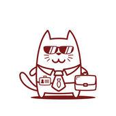 Affärsman i kostym med slips och solglasögon — Stockvektor