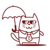 Businessman holding a umbrella — Stock Vector