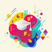 Akademiska hatt — Stockvektor