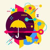 Зонтик — Cтоковый вектор