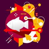 Bandeira de peixe — Vetorial Stock