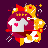 T shirt — Stok Vektör