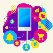 Celular — Vetor de Stock