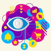 Eye sign — Stock Vector