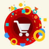 Shopping trolley — Vetorial Stock