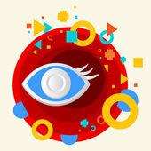 Banner de ojo — Vector de stock