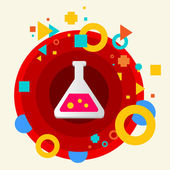Laboratory flask — Stock Vector
